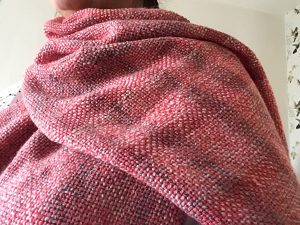 Weefproject Karin Waldner weaving