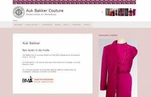 Website Websitebouw Auk Bakker Couture nieuwe website 2021 Waldner.nl